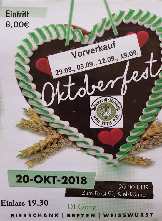 Oktoberfest 2018 in der Rönner Beliebung