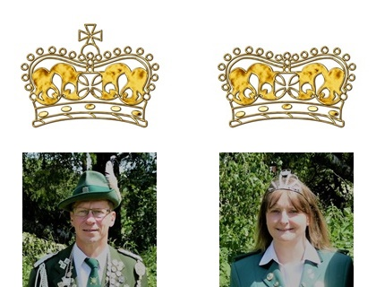 Königspaar 2019 - 2021 Britta & Bernd Gusella